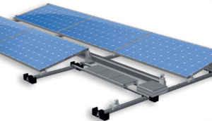 Frame Mounting for flat roof on apartment blocks or industrial units